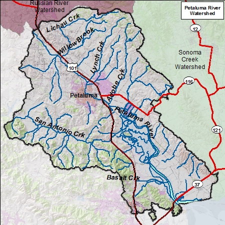 Petaluma River Map