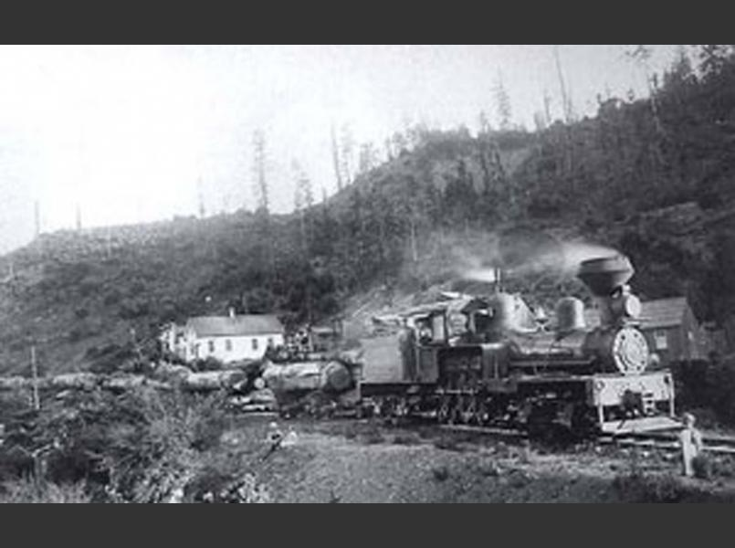 Early logging railroad