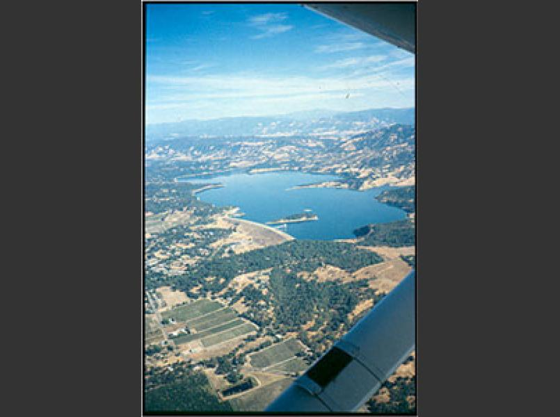 Coyote Dam created Lake Mendocino.