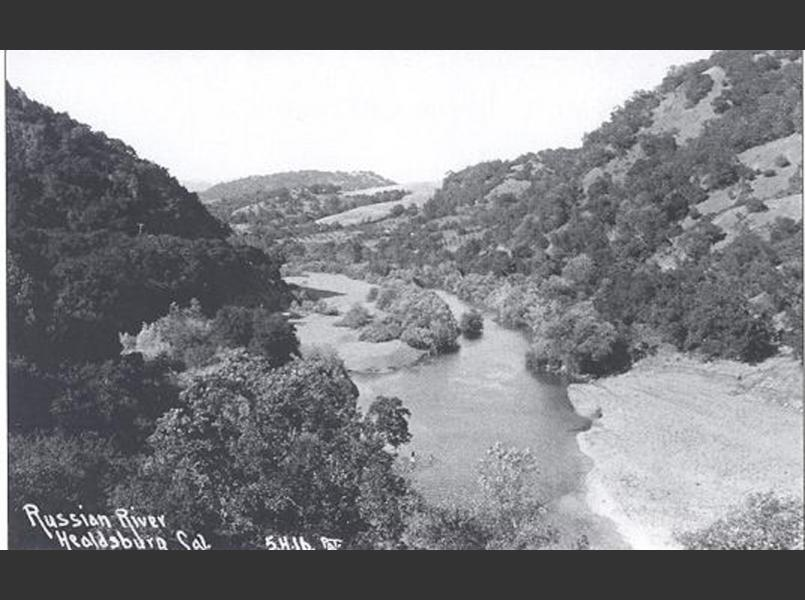Russian River upstream of Healdsburg in 1916