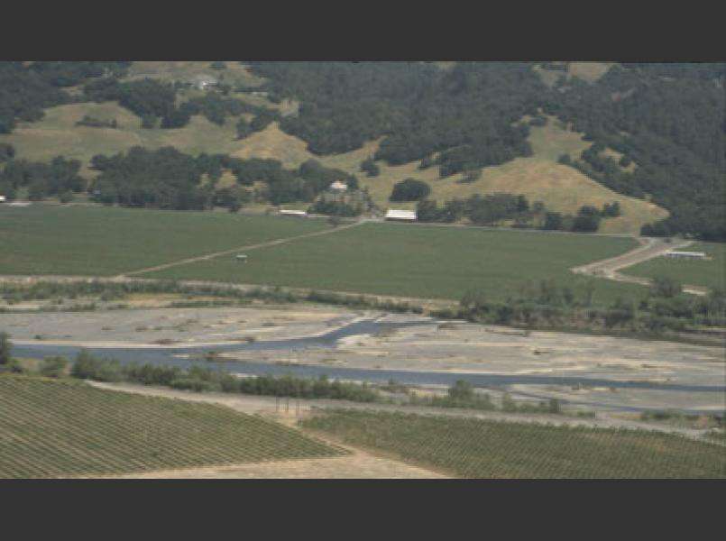 Expansion of agriculture into valleys and onto hillsides, replacing riparian corridors on many streams and areas of the river;