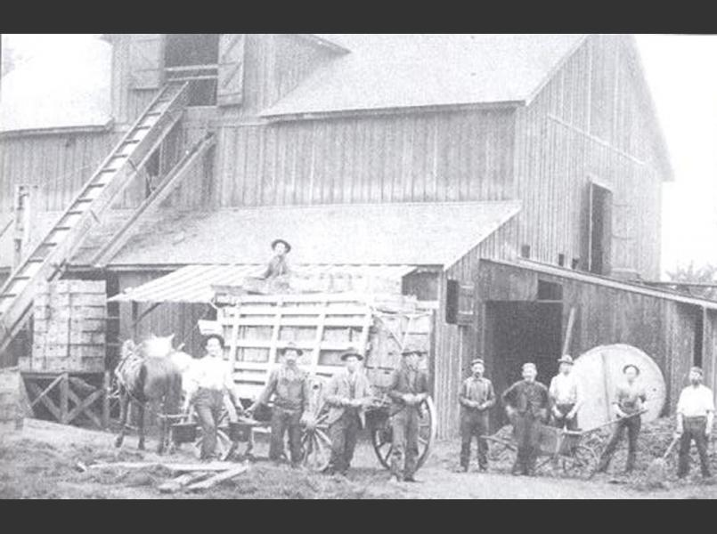 The Metzger Winery photographed here in 1885 was located in the Rincon Valley area, now an urban neighborhood