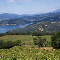 View of Lake Hennessey, the largest  reservoir in the Napa River drainage, and east side of the watershed