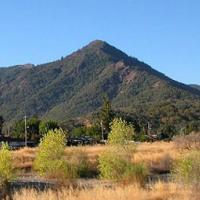The triangular Duncan Peak lies on the western edge of Hopland.