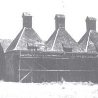 A hop kiln in the Russian River Valley in the late 1800s