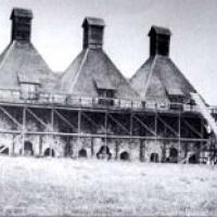Hop kiln in Dry Creek Valley in 1870
