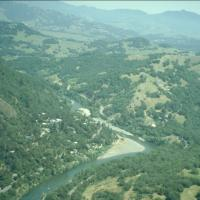 The steep canyon of the Lower Russian River