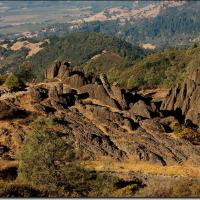 The Calistoga Palisades are made up of volcanic rock