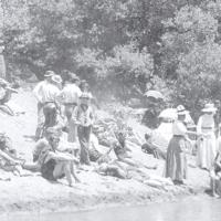 Fun at Guernewood beach in 1911