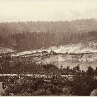 The aftermath of hydraulic mining at the Malakoff Diggings in 1869-1872