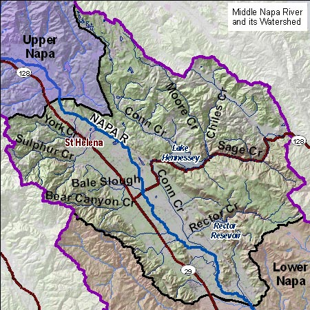 Middle Napa Map