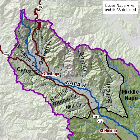 Upper Napa Map